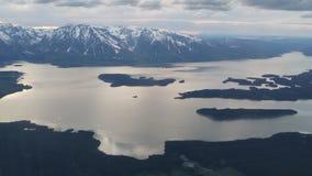 Grand lac Tetons au crépuscule Photo libre de droits