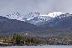 Grand Lake, Colorado. Grand Lake is the West Entrance to Rocky Mountain National Park royalty free stock photos
