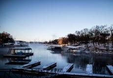 Grand lake Oklahoma. Small dock at the grand lake , Oklahoma royalty free stock photos
