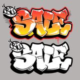 Grand lettrage de vecteur de graffiti de vente Photo stock