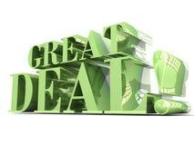 Grand lettrage du vert 3D d'affaire illustration stock