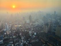 grand lever de soleil de sity Photos libres de droits