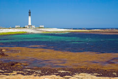 The grand lighthouse of island Sein, France. Stock Photos