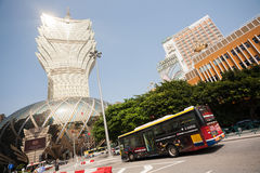 Grand Lisboa Casino and Lisboa Casino in Macau Stock Images