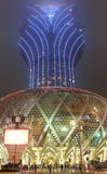 Grand Lisboa Casino in Macao at Fog Night Stock Photography
