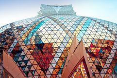 Grand Lisboa Casino in Macau Stock Photo