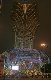 The Grand Lisboa Casino in Macau. Macau, China - May 5 - The Grand Lisboa Casino in Macau royalty free stock photography