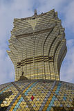 Grand Lisboa Hotel in Macau resembling leaves pattern taken slightly from side angle Royalty Free Stock Photos