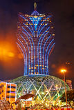 Grand Lisboa in night Royalty Free Stock Image