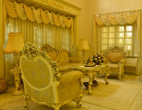 Grand Living Room (another angle). A living room with a luxurious and classical style Stock Photo
