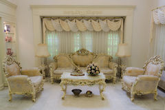 Grand Living Room (Final). A living room with a luxurious and classical style Stock Photo
