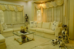 Grand Living Room--relax zone. Nicely decorated living room with a mixture of modern and old-fashion style Stock Photo