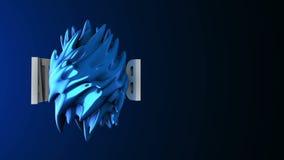 grand logo d'abrégé sur bruit des données 3d 3D rendent la longueur de HD illustration libre de droits
