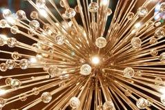 Grand lustre électrique fait de verre Images libres de droits