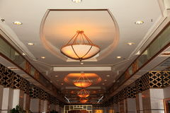 Grand luxurious hotel hall stock image
