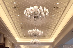 Grand luxurious hotel hall Stock Images