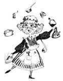 Grand-mère illustration de vecteur