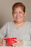 Grand-mère aînée asiatique de femme Image libre de droits