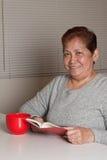 Grand-mère aînée asiatique de femme Images libres de droits
