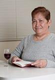 Grand-mère aînée asiatique de femme Image stock