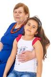 Grand-mère avec sa petite-fille Photographie stock libre de droits