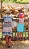 Grand-mère avec son enfant Photographie stock