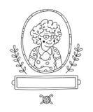 Grand-mère de dessin de découpe Images stock
