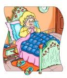 Grand-mère de peu de capot d'équitation rouge Image libre de droits