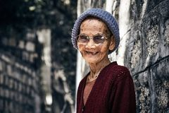 Grand-mère de sourire Photo libre de droits