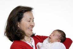 Grand-mère et chéri Images stock