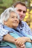Grand-mère et fils Photos libres de droits