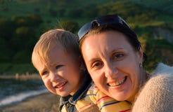 Grand-mère et fils Image libre de droits