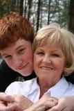 Grand-mère et fils Images libres de droits
