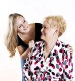 Grand-mère et Grandaughter Image libre de droits