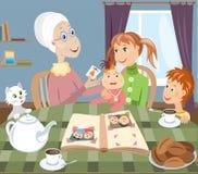 Grand-mère et grandchilds image stock