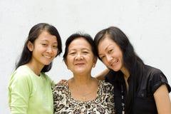 Grand-mère et petite-fille Image libre de droits