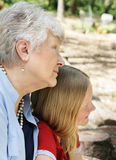 Grand-mère et petite-fille Photographie stock