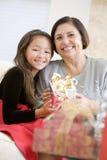 Grand-mère et petite-fille Images libres de droits