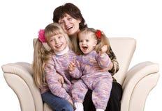 Grand-mère et petite-fille deux heureux. Images libres de droits