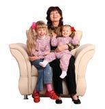 Grand-mère et petite-fille deux heureux. Photographie stock libre de droits
