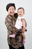 Grand-mère et sa petite-fille Image stock