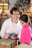 Grand-mère et un enfant Image libre de droits