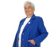 Grand-mère heureuse d'isolement Images libres de droits