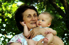 Grand-mère heureux Photographie stock