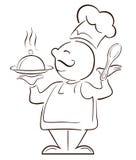 Grand M. cuisinier de chef Image stock