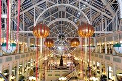 Grand magasin à Dublin pendant des vacances de Noël (Irlande - Eire) Photo stock