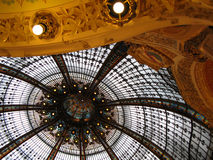 Grand magasins La Fayette. The Dome in Galleries Lafayette shopping mall, Paris Stock Images