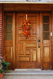 A grand main entrance of a house Stock Image