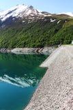 Grand` Maison Dam, Lac de Grand Maison in the french Rhone-Alpes stock image