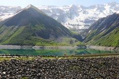 Grand` Maison Dam, Lac de Grand Maison, Rhone-Alpes, France royalty free stock photography